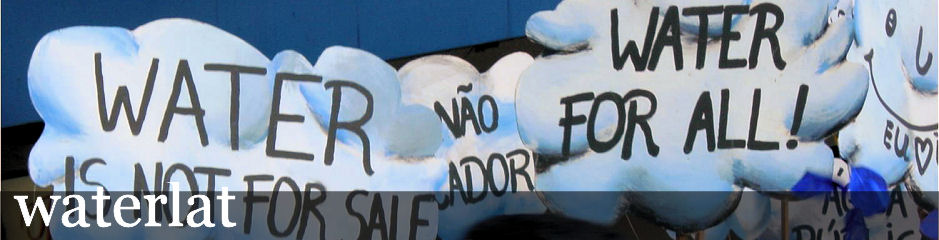 Demonstration against water privatization, World Social Forum 2003, Porto Aleg